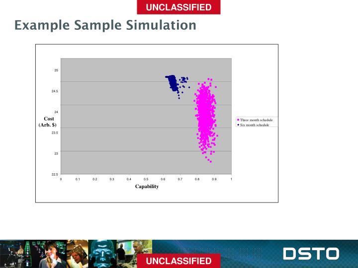 Example Sample Simulation
