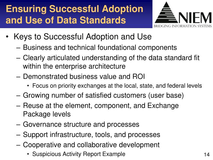 Ensuring Successful Adoption and Use of Data Standards