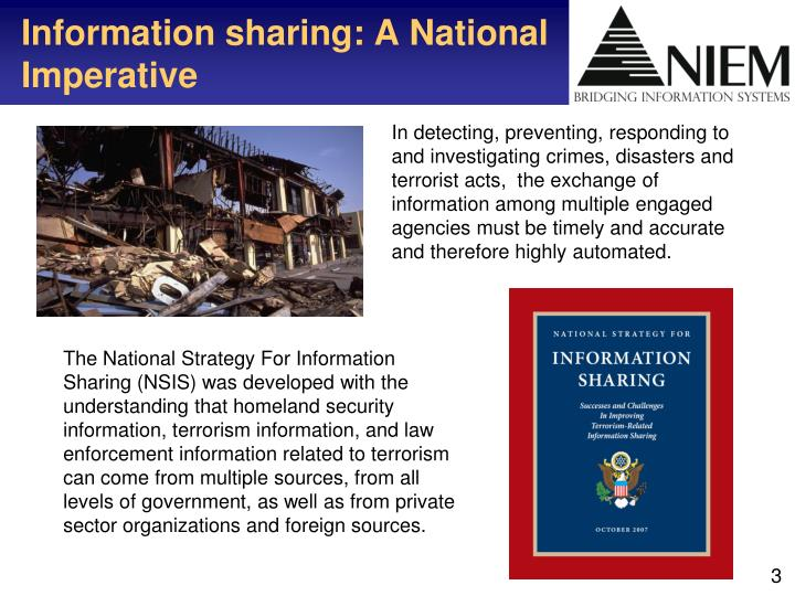 Information sharing a national imperative