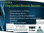 ccna c isco c ertified n etwork a ssociate