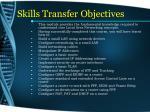 skills transfer objectives