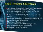 skills transfer objectives2