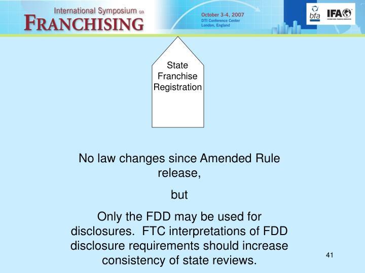 State Franchise Registration