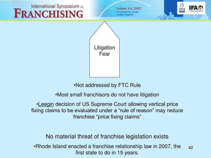 Litigation Fear