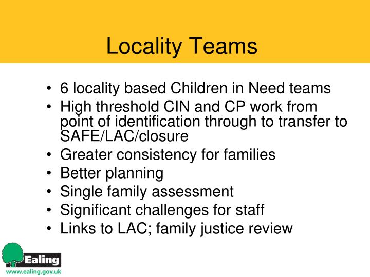 Locality Teams