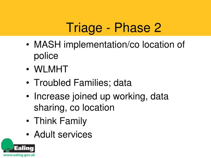 Triage - Phase 2
