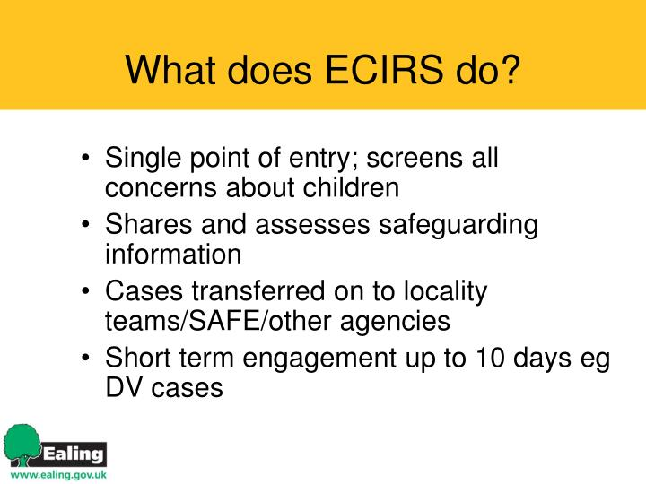 What does ECIRS do?