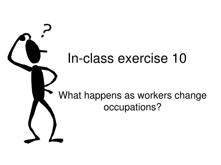 In-class exercise 10