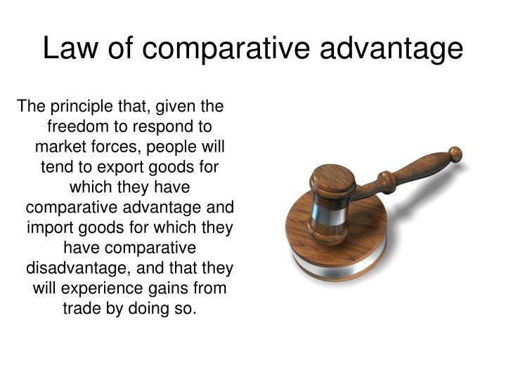 Law of comparative advantage