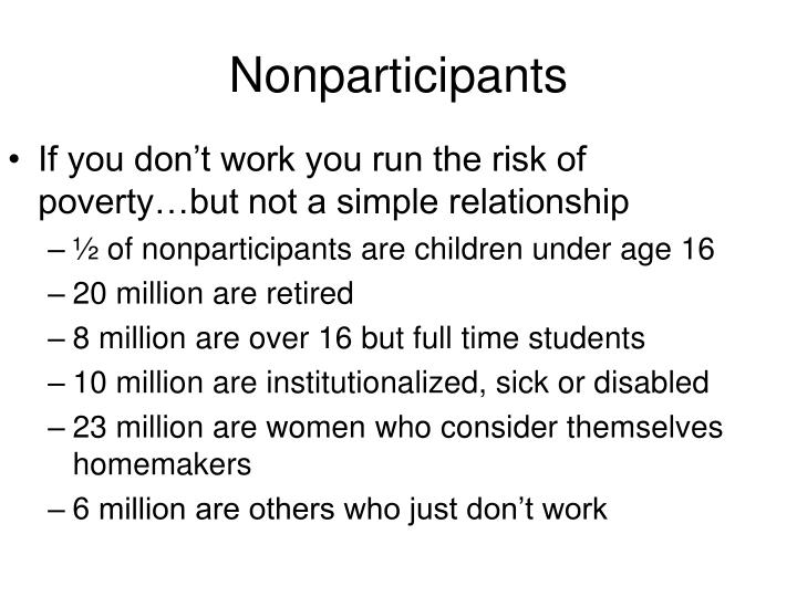Nonparticipants