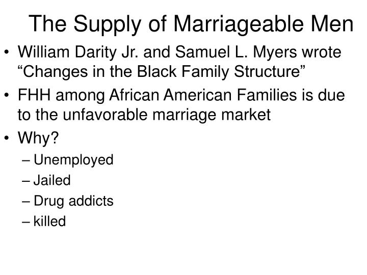 The Supply of Marriageable Men