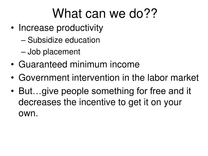 What can we do??