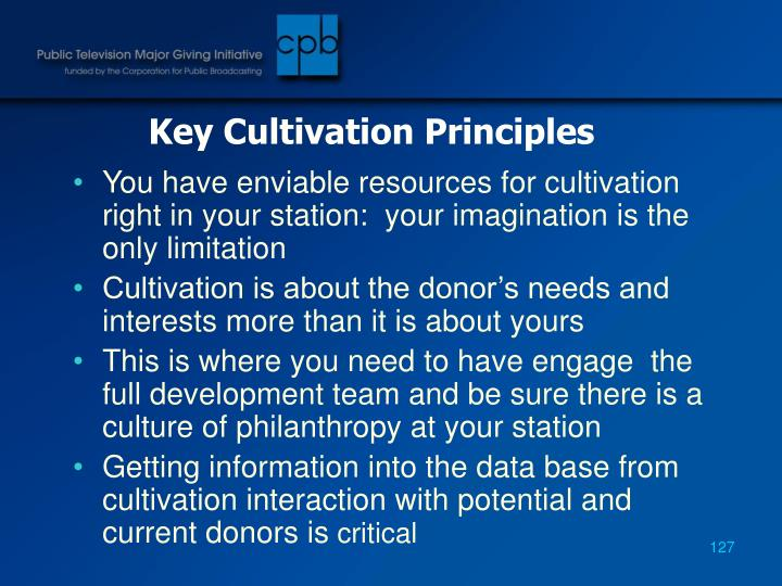 Key Cultivation Principles