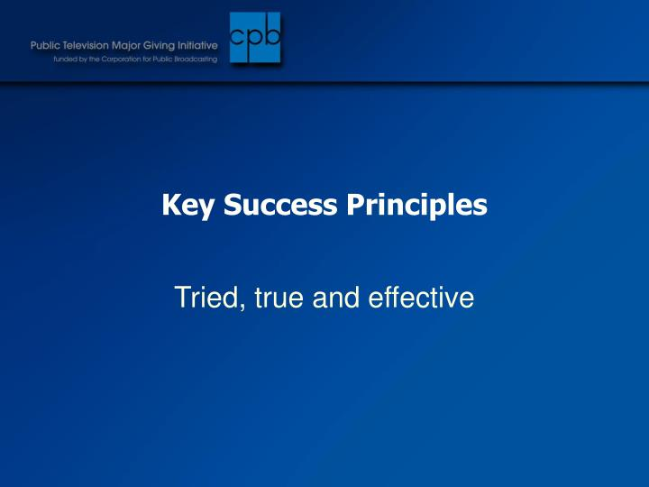Key Success Principles