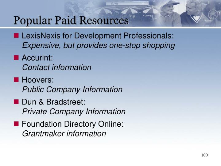 Popular Paid Resources
