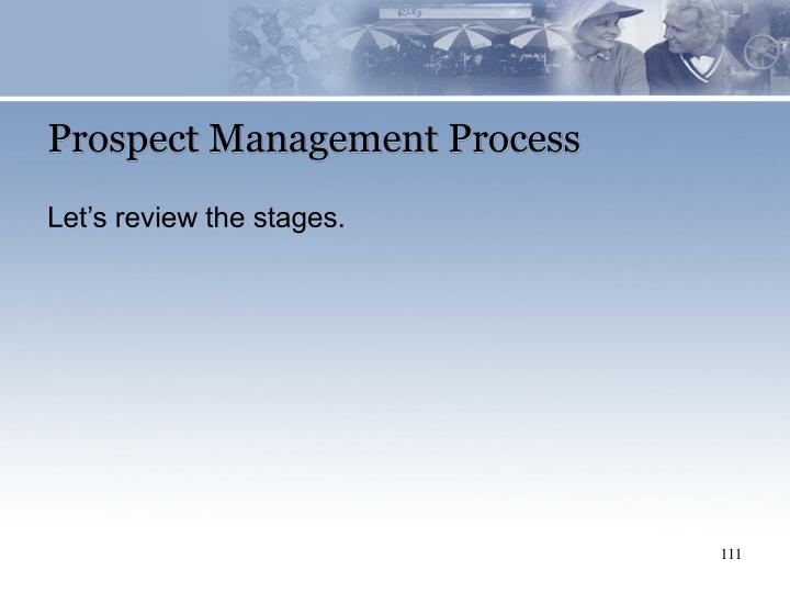 Prospect Management Process
