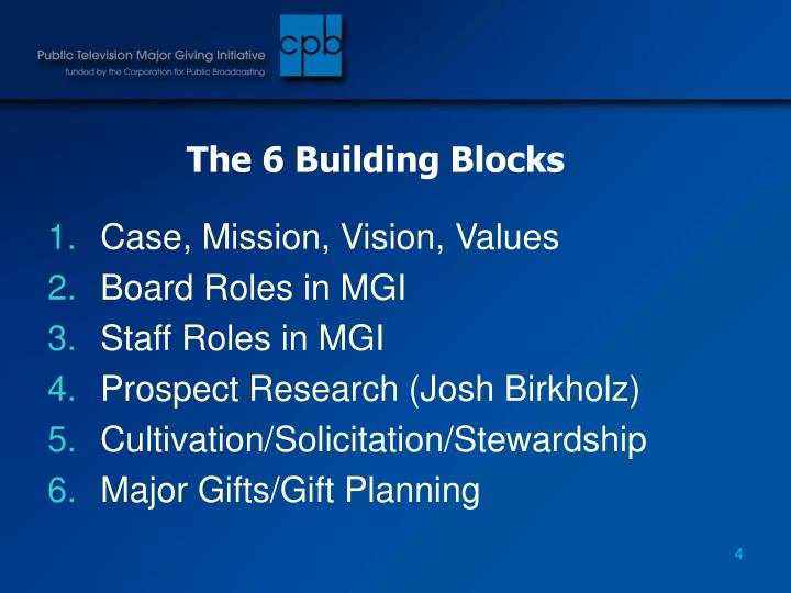The 6 Building Blocks