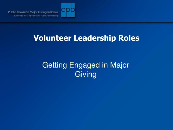 Volunteer Leadership Roles
