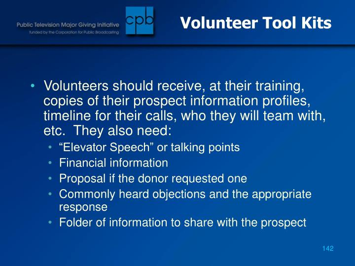 Volunteer Tool Kits