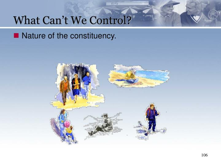 What Can't We Control?