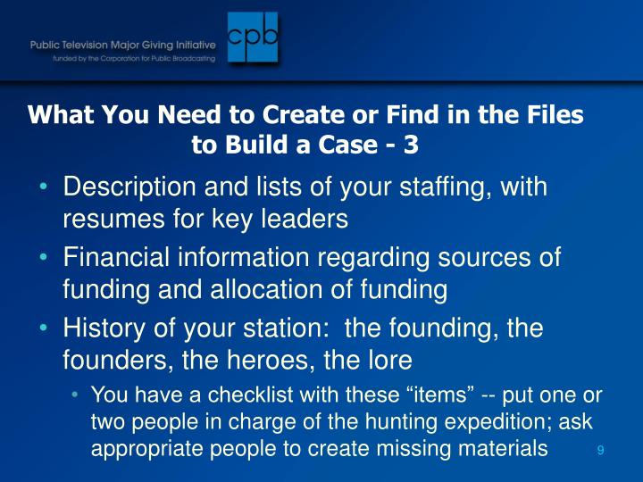 What You Need to Create or Find in the Files to Build a Case - 3