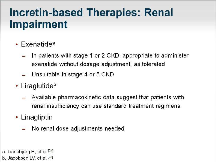 Incretin-based Therapies: Renal Impairment