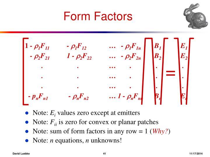 Form Factors