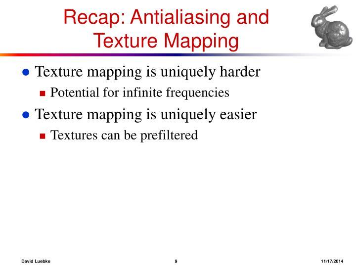 Recap: Antialiasing and