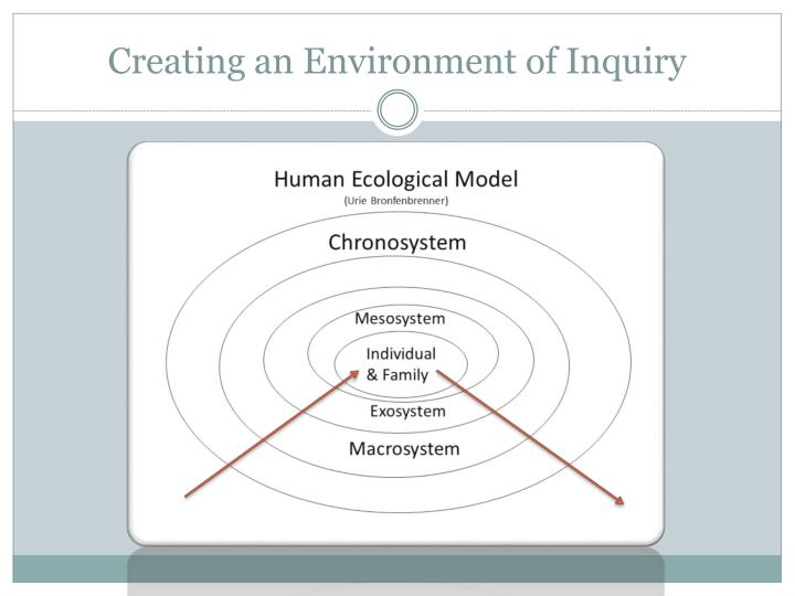 Creating an Environment of Inquiry