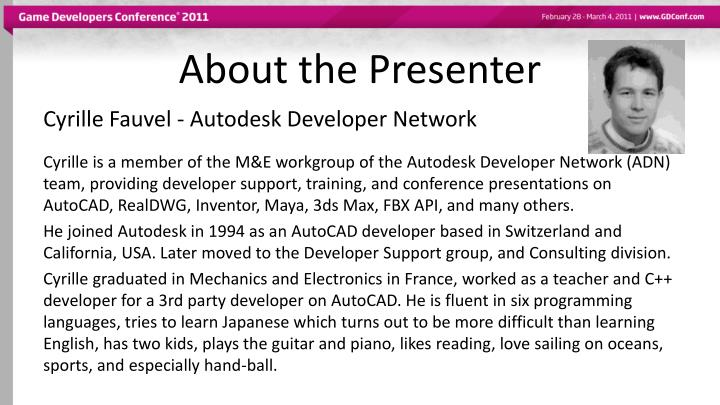 About the presenter