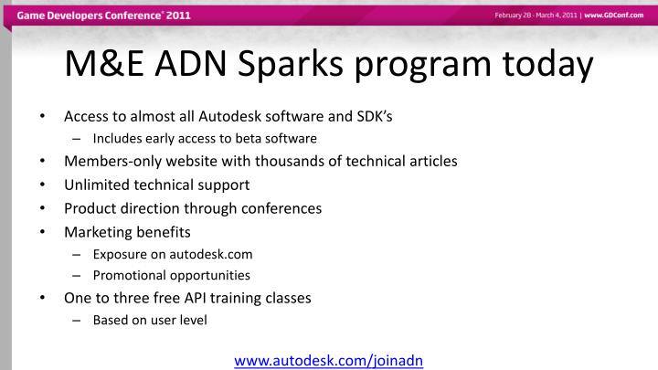 M e adn sparks program today