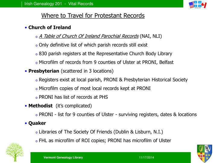 Where to Travel for Protestant Records