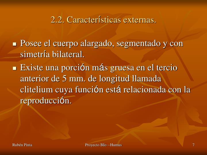 2.2. Caracter