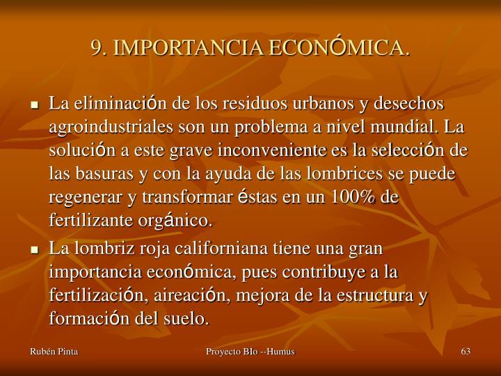 9. IMPORTANCIA ECON