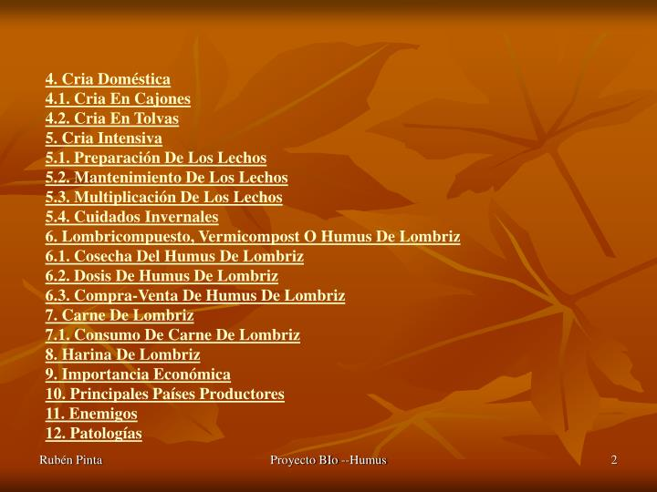 4. Cria Doméstica