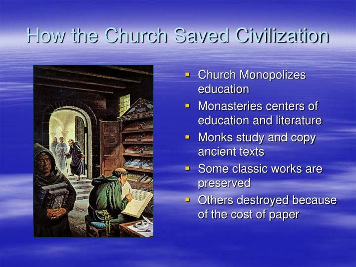 Church Monopolizes education