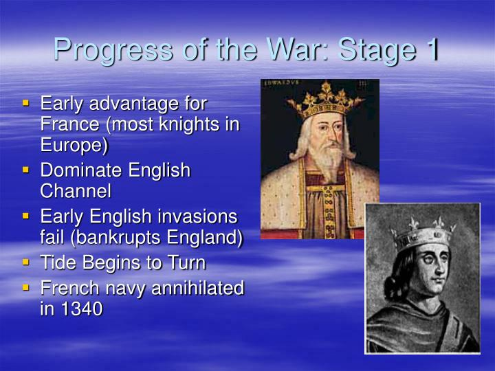Progress of the War: Stage 1