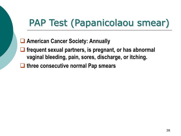 PAP Test (Papanicolaou smear)