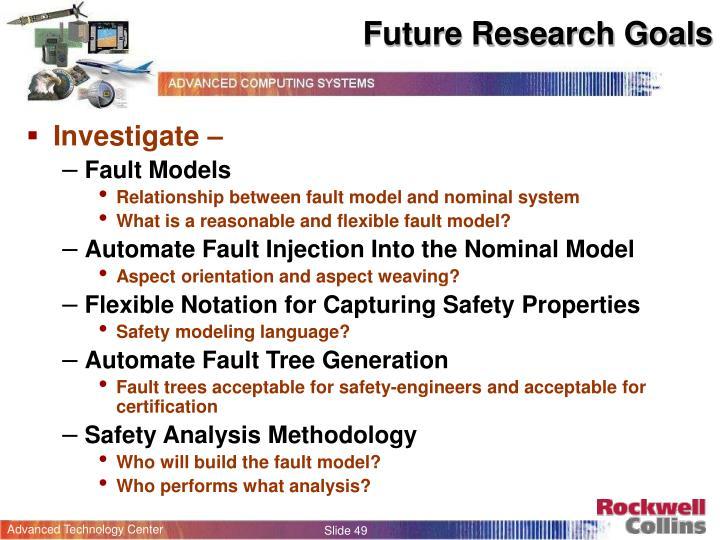 Future Research Goals