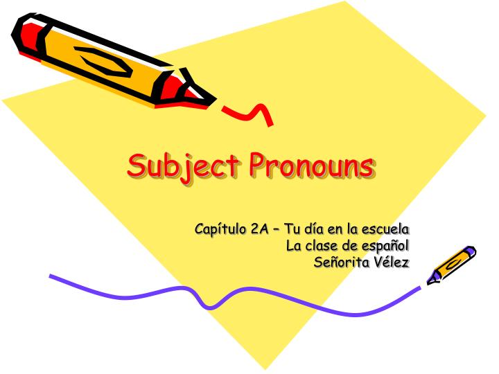 subject pronouns n.