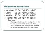 meat meat substitutes