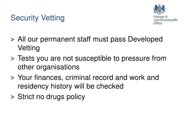 Security Vetting