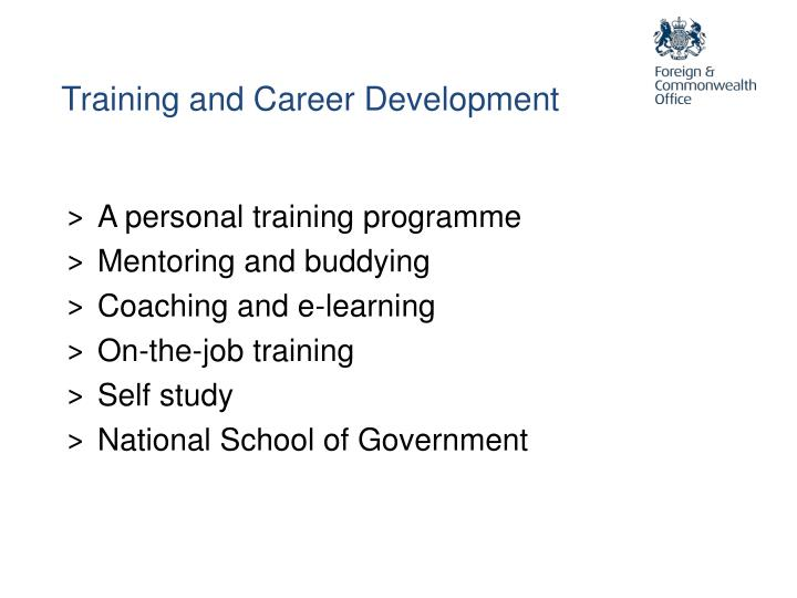 Training and Career Development