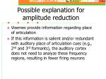 possible explanation for amplitude reduction
