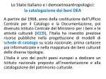 lo stato italiano e i demoetnoantropologici la catalogazione dei beni dea