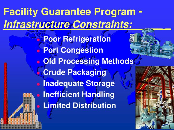 Facility guarantee program infrastructure constraints