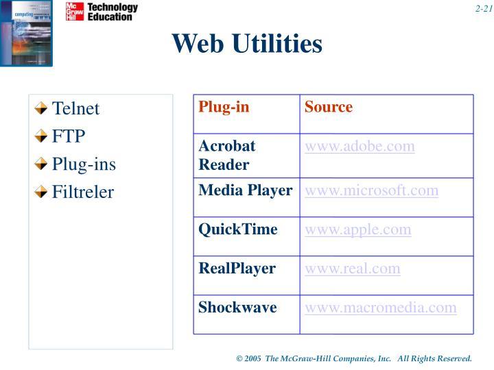 Web Utilities