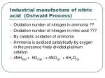 industrial manufacture of nitric acid ostwald process