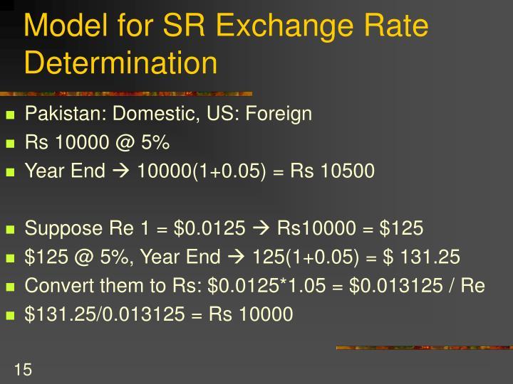 Model for SR Exchange Rate Determination
