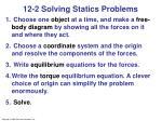12 2 solving statics problems